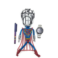 hand-crafted Wire-art Superman