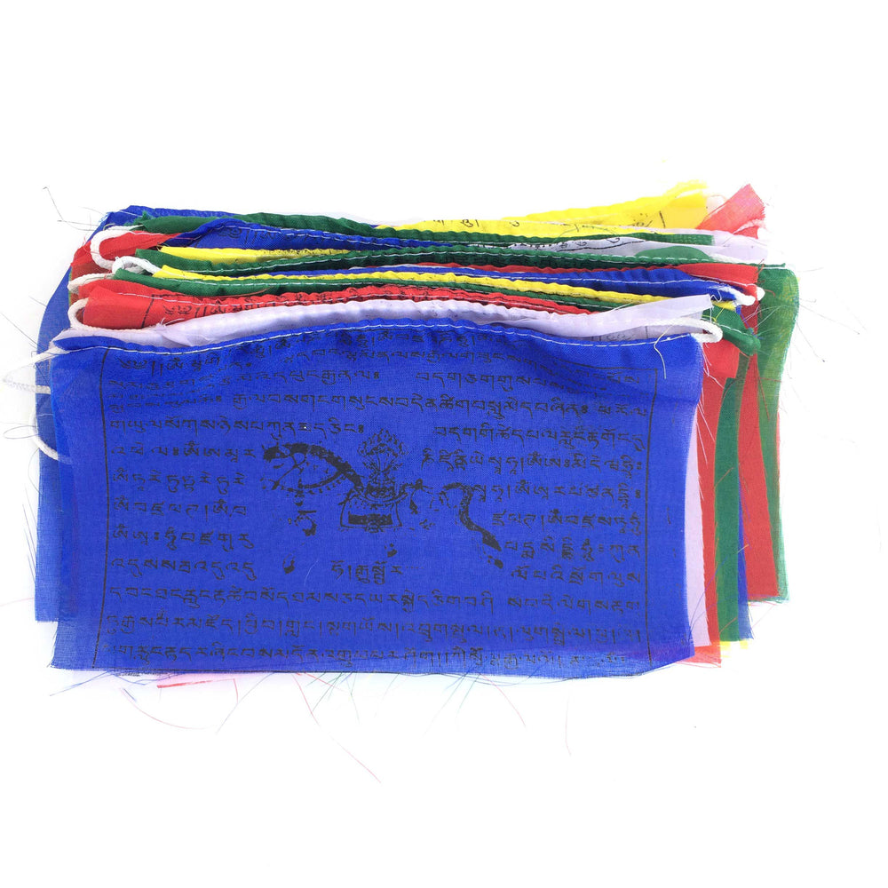 Buddhist Tibetan Prayer Flags Large 480cms roll open