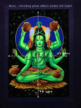 Load image into Gallery viewer, UV Glow Lord Shiva painting made from fluorescent colors