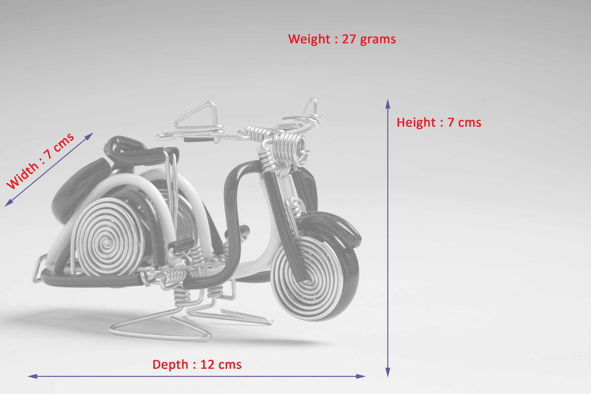 Buy Miniature Wire Art Vespa Scooter hand-crafted from aluminium ...