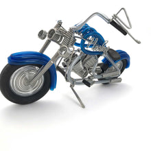 Load image into Gallery viewer, Miniature Wire Art cruiser motor bike hand-crafted from aluminium wire