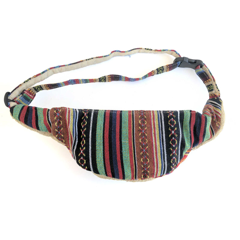 HEMP Fanny Pack made from 100% natural, organic and eco-friendly handwoven HEMP