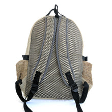 Load image into Gallery viewer, Hemp backpack made from 100% pure hand-woven Hemp rear view