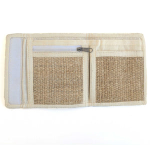 wallet made from 100% pure hemp open view
