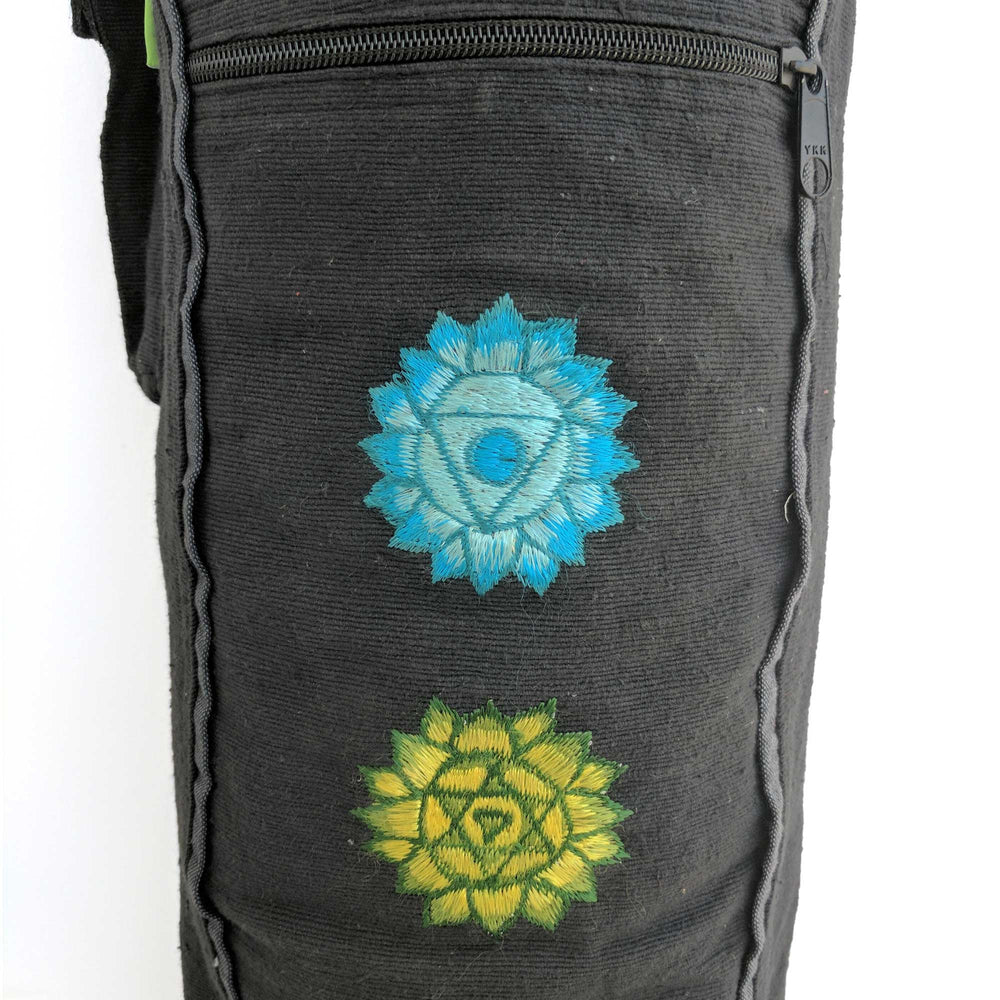 Yoga Mat Bag Chakras with hand-embroidery