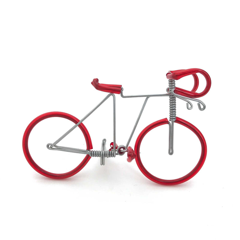 Miniature Wire Art Bicycle A hand-crafted from aluminium wire
