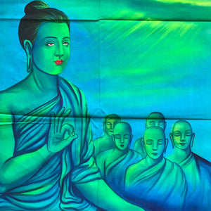 UV Glow Lord Buddha painting made from fluorescent colors