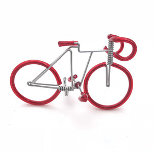 Miniature Wire Art Bicycle Mini hand-crafted from aluminium wire