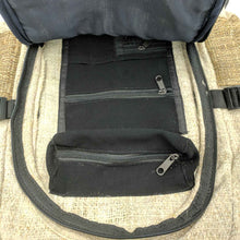 Load image into Gallery viewer, Hemp backpack made from 100% pure hand-woven Hemp inside view