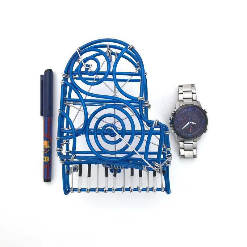 Miniature Wire Art Piano hand-crafted from aluminium wire