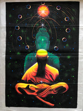 Load image into Gallery viewer, UV Glow Buddha Meditation painting made from fluorescent colors