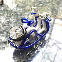 Load image into Gallery viewer, Miniature Wire Art Vespa Scooter hand-crafted from aluminium wire