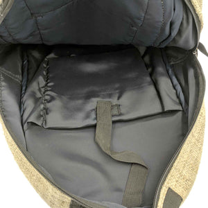 Hemp backpack made from 100% pure hand-woven Hemp inside view