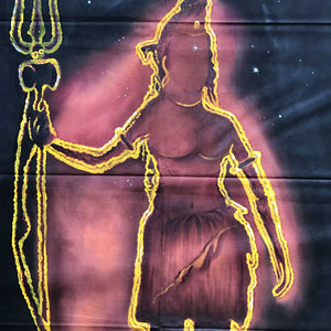 UV Glow Lord Shiva Outline painting made from fluorescent colors