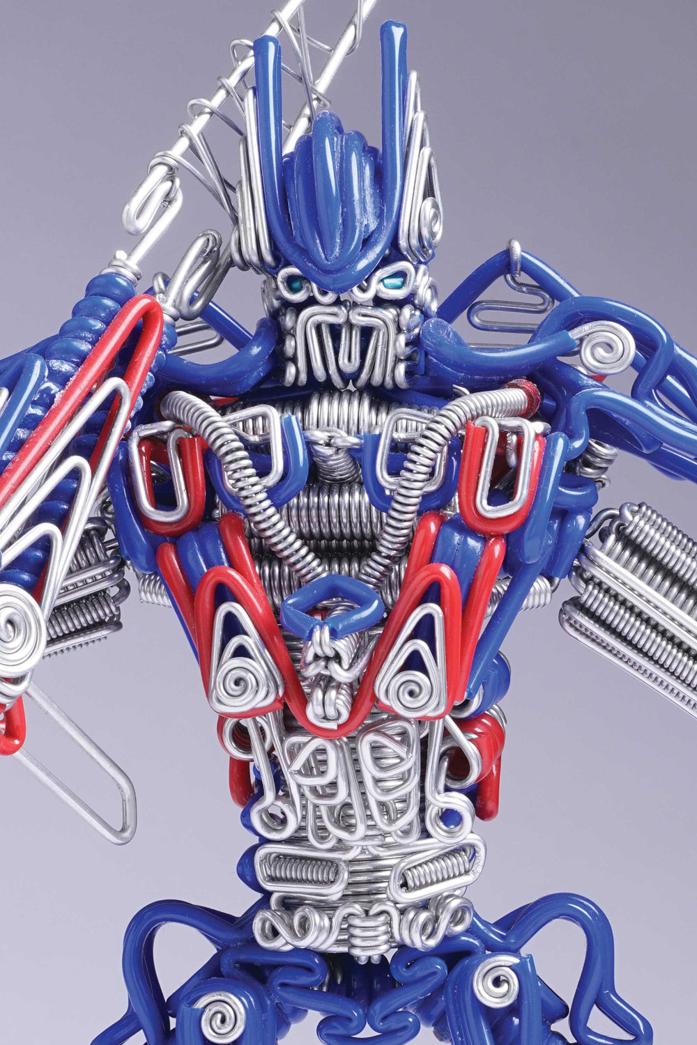 hand-crafted Wire-art Optimus prime transformers