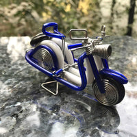 hand-crafted Wire-art Vespa Scooter