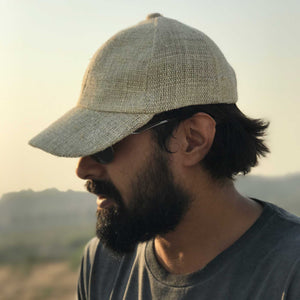 Hemp cap made from 100% pure hand-woven hemp