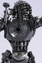 Load image into Gallery viewer, Predator metal action figure hand-crafted from junk auto parts