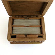 Load image into Gallery viewer, Wooden Secret Card Box made from Walnut Wood