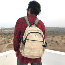 Load image into Gallery viewer, Hemp backpack made from 100% pure hand-woven Hemp