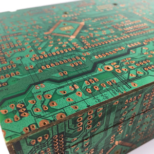Techno Box handcrafted from MDF wood and recycled motherboard