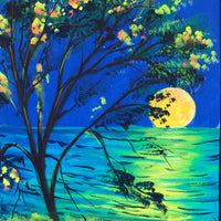 UV Glow Painting Moonset View