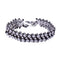 Sterling Silver Bracelet Diamond Balls Pattern