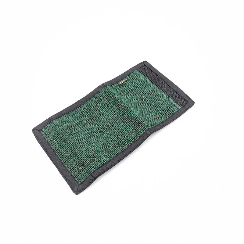 Organic and eco-friendly 2 fold wallet in green color