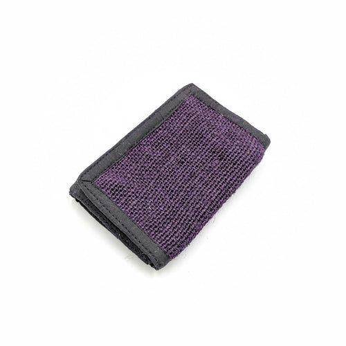 wallet made from 100% pure hemp with purple vegetable dye