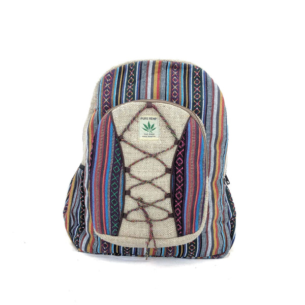 Pure Hemp Backpack Crisscross