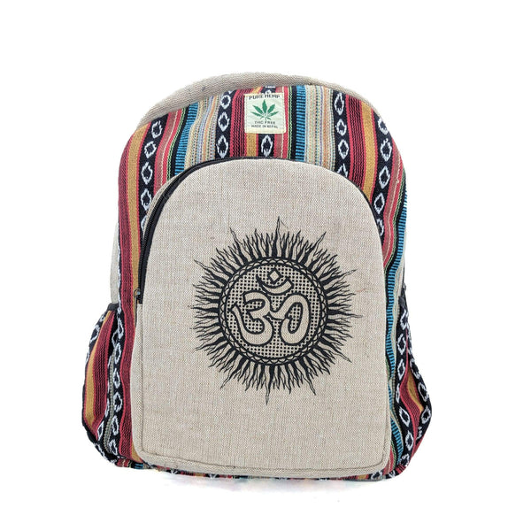 Hemp Backpack Om