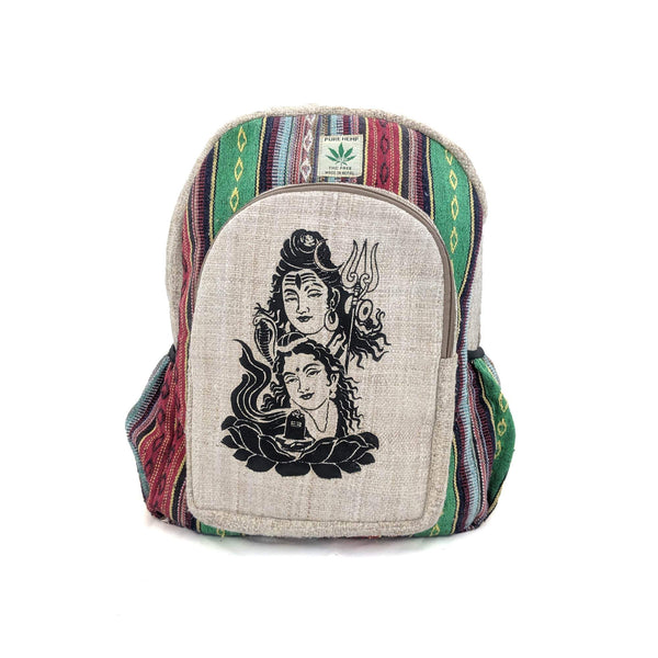 Pure Hemp Backpack Shiva Parvati