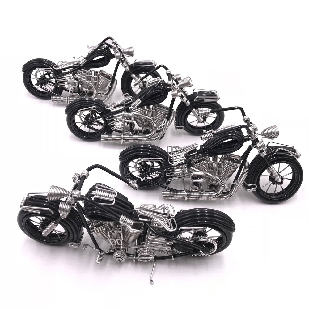 Miniature Wire Art Vintage Motorcycle hand-crafted from aluminium wire