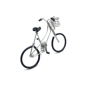 Miniature Wire Art Bicycle C hand-crafted from aluminium wire