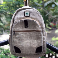 Backpack made from 100% pure hand-woven hemp