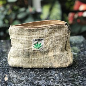 Travel pouch made from 100% pure hemp