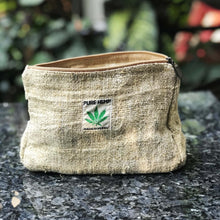 Load image into Gallery viewer, Travel pouch made from 100% pure hemp