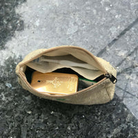 Pure Hemp Pouch made from 100% pure hand-woven HEMP with men travel accessories