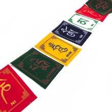 Load image into Gallery viewer, Buddhist Tibetan Prayer Flag Om Mani Padme Hum Velvet