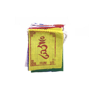 Buddhist Tibetan Prayer Flag Om Mani Padme Hum Cotton Mini