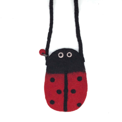 Lady Bug SLing Bag made from felt