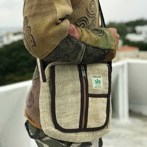 Pure Hemp Messenger Bag made from 100% pure HEMP