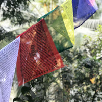 Buddhist Tibetan Prayer Flag XXL 975cms 1 Roll outdoor view