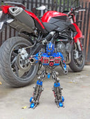Transformers Optimus Prime hand-crafted from metal
