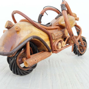 Cruiser bike hand-crafted from wood
