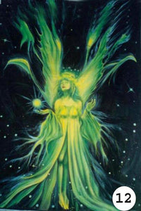 UV Glow Painting Green Angel