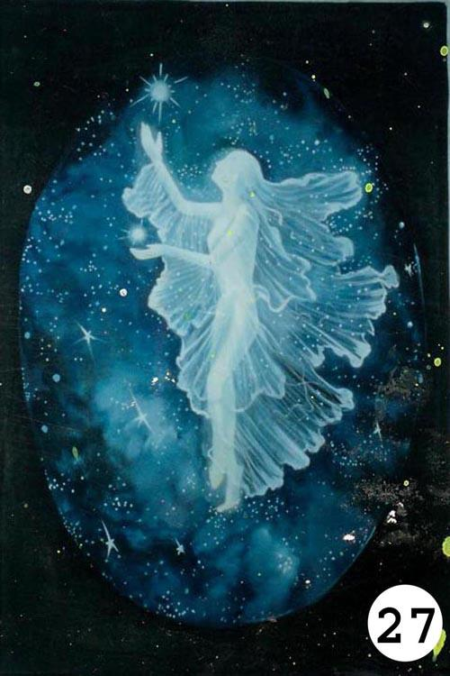 UV Glow Painting White angel