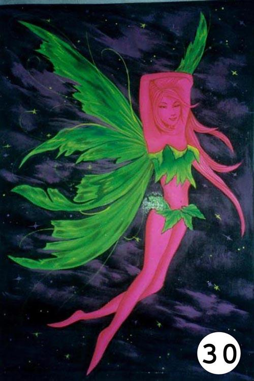 UV Glow Painting Pink Fairy