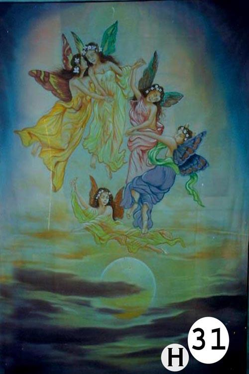 UV Glow Painting Fairies on clouds