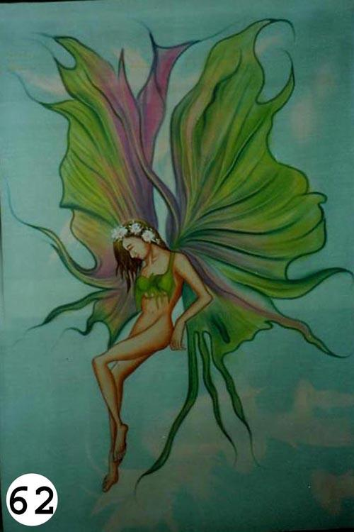 UV Glow Painting Green Fairy